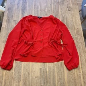 Red blouse by Missguided 4